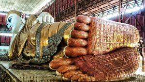 Buddha Statue At Chaukhtatgyi Buddha Temple